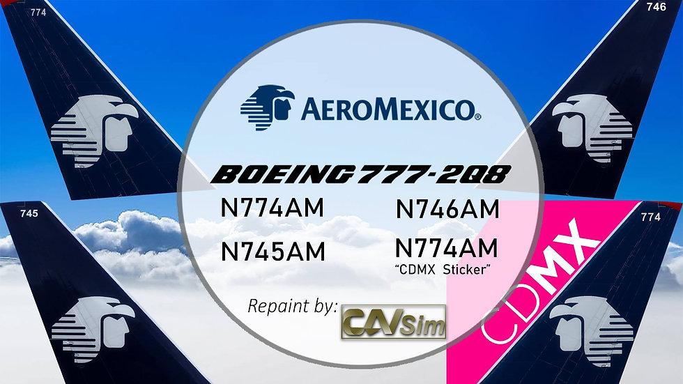 Pack Boeing No. 10 Aeromexico B777-200ER 'Chrome and White Liveries'