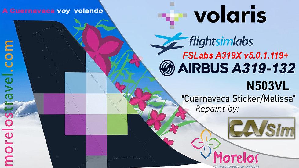 A319-132 (WT) Volaris 'Cuernavaca - Melissa' 'N503VL'