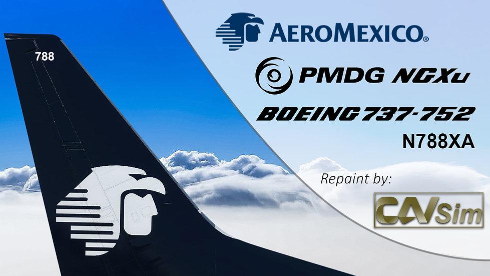 B737-752(BW) AeroMexico Chrome Livery 'N788XA'
