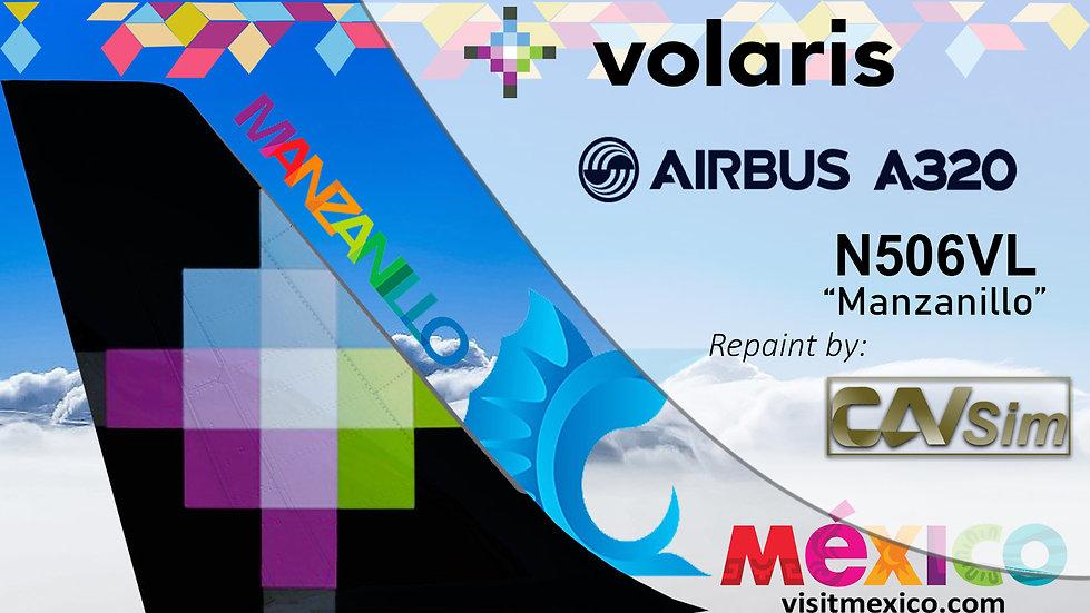 Airbus A320-233 Volaris 'Manzanillo Colima' 'N506VL'