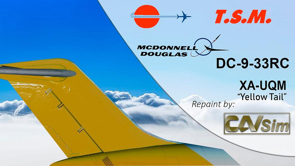 McDonnell Douglas DC9-33RC Aeronaves TSM 'Yellow Tail' 'XA-UQM'