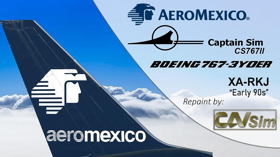 B767-3Y0ER Aeromexico Early 90s Chrome Livery XA-RKJ