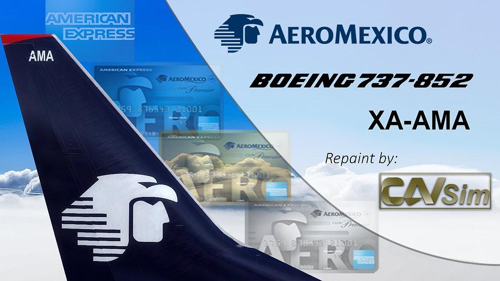 Boeing 737-852(WL) Aeromexico 'Sticker American Express' 'XA-AMA'