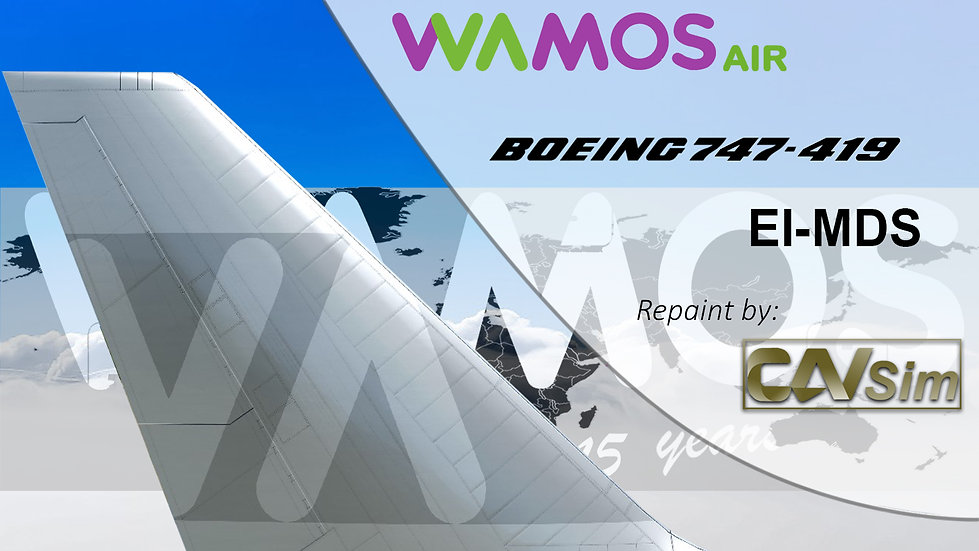 Boeing 747-419 Wamos Air '15 Años Aniversary Livery' 'EC-MDS'