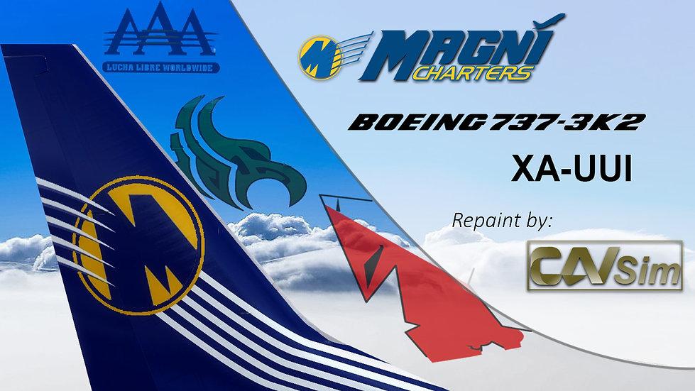 Boeing 737-3K2 Magnicharters 'Dr. Wagner Livery' 'XA-UUI'