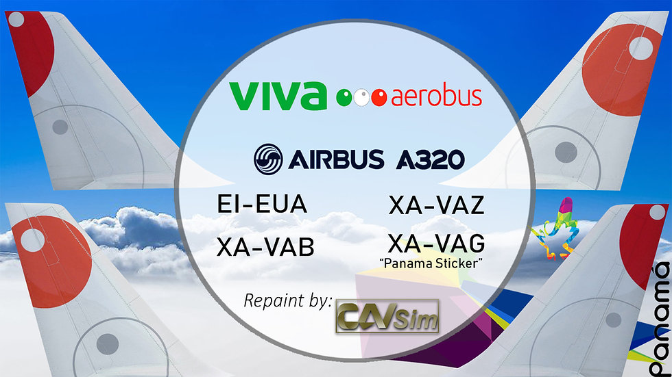 Pack No. 21 Airbus A320-232 VivaAerobus Liveries