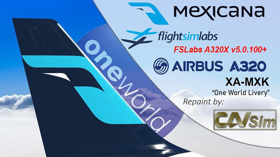 A320-214 (WT) Mexicana 'One World Livery' 'XA-MXK' CN: 3304