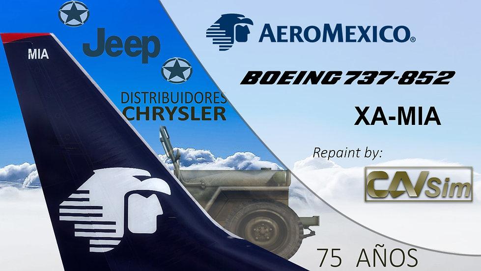 Boeing 737-852(WL) Aeromexico 'Sticker 75a JEPP' 'XA-MIA'