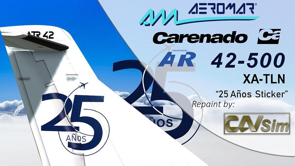 Avions de Transport Regional ATR42-500 Aeromar '25 Anniversary' 'XA-TLN'