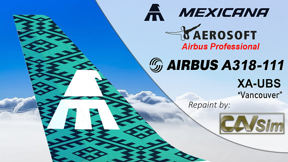 A318-111SL(WT) Mexicana 'Green Livery' 'Vancouver' 'XA-UBS'