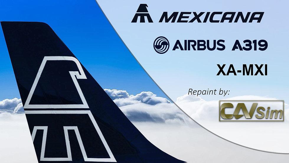 Airbus A319-112 Mexicana 'Blue Livery' 'XA-MXI'