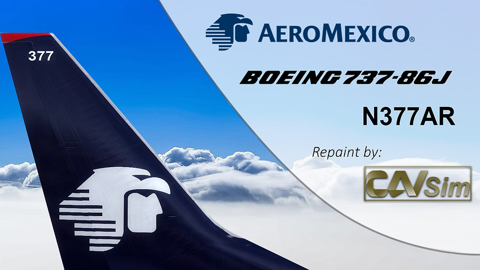 Boeing 737-86J(WL) AeroMexico 'Last Livery' 'N377AR'