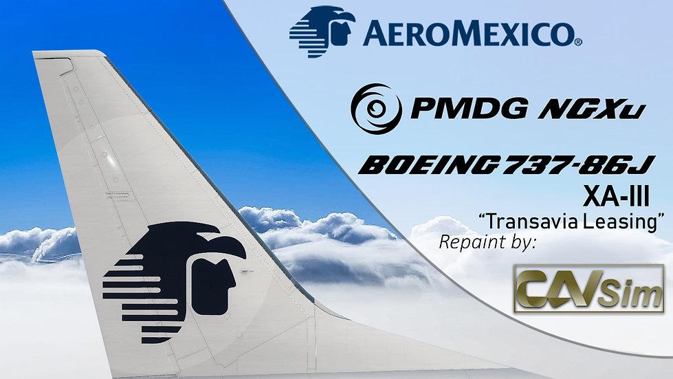 B737-86J(BW) Aeromexico 'White Transavia France Livery' 'XA-III'