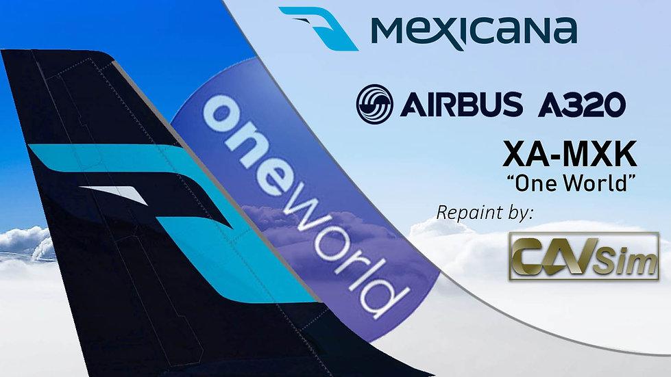 Airbus A320-214 Mexicana 'OneWorld Livery' 'XA-MXK'