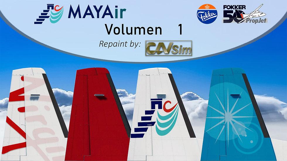 Pack No. 31  Fokker 50 MK-100 MAYAir 'All Liveries'