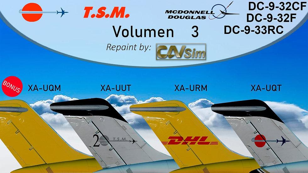 Pack No. 44 Douglas DC9-30F Aeronaves TSM  Vol. 3