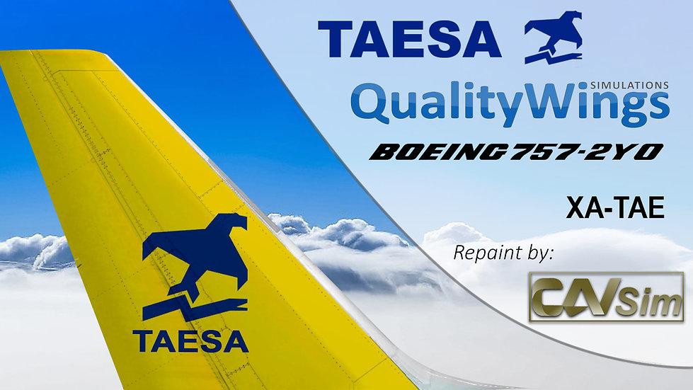 Boeing B757-2Y0 Transportes Aéreos Ejecutivos TAESA 'Tail Yellow' 'XA-TAE'