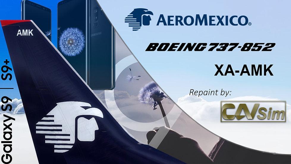 Boeing 737-852(WL) Aeromexico 'Sticker Galaxy S9-S9+' 'XA-AMK'