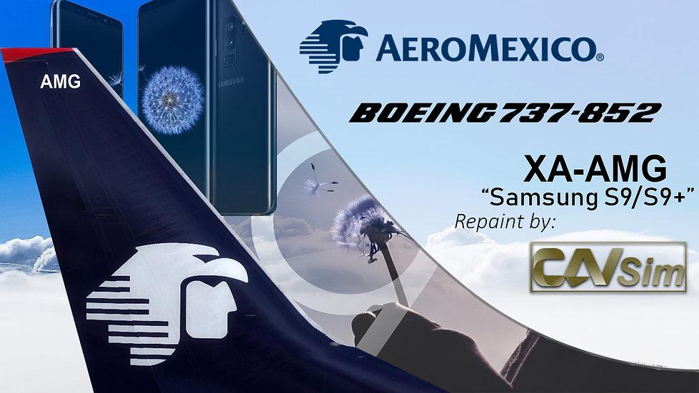 Boeing 737-852(WL) AeroMexico 'Sticker Galaxy S9-S9+' 'XA-AMG'