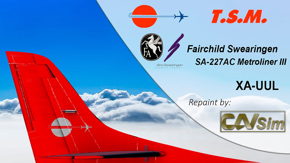 Fairchild Swearingen SA 227AC Metro III Aeronaves TSM 'Red Livery' 'XA-UUL'