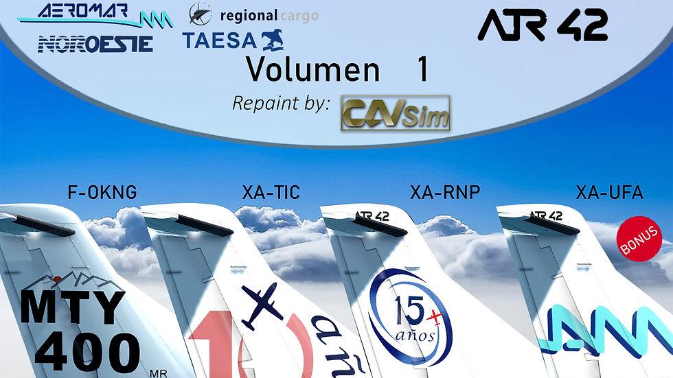 Pack No. 24 Avions de Transport Regional  ATR 42-320  Standard Liveries Vol. 1