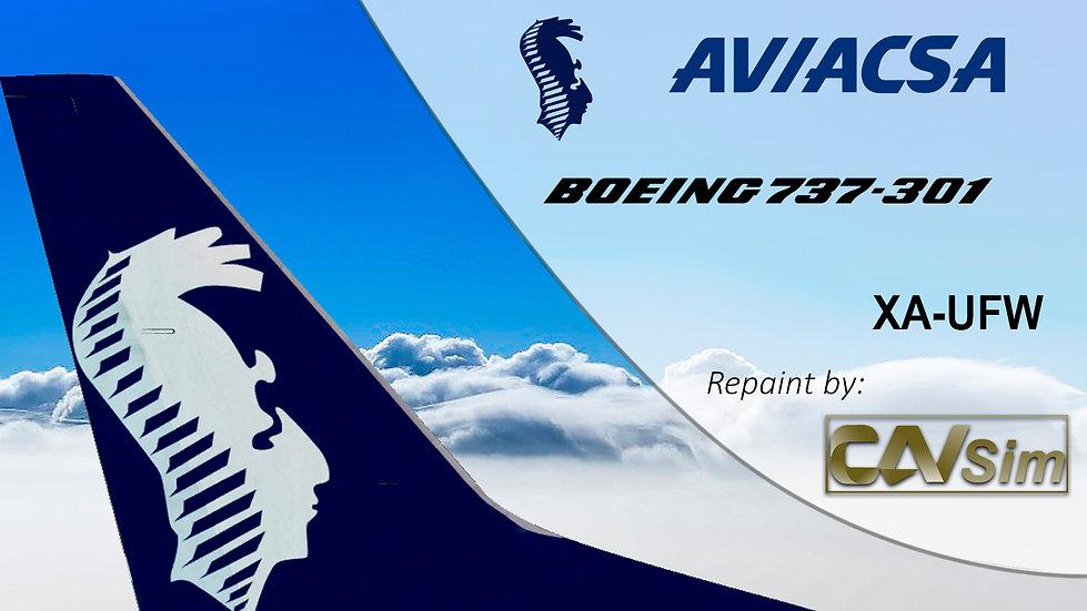 Boeing 737-301 Aviacsa 'Last Livery' 'XA-UFW'
