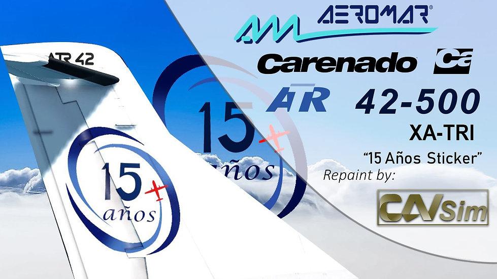 ATR42-500 Aeromar '15 Anniversary' 'XA-TRI'