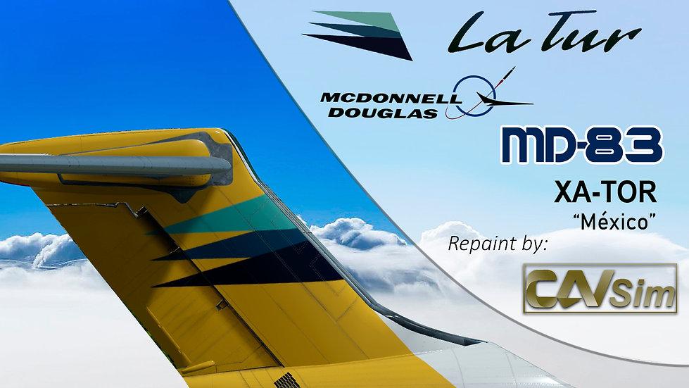 MDD MD-83 La Tur 'Last Livery' Flat Tail 'XA-TOR'