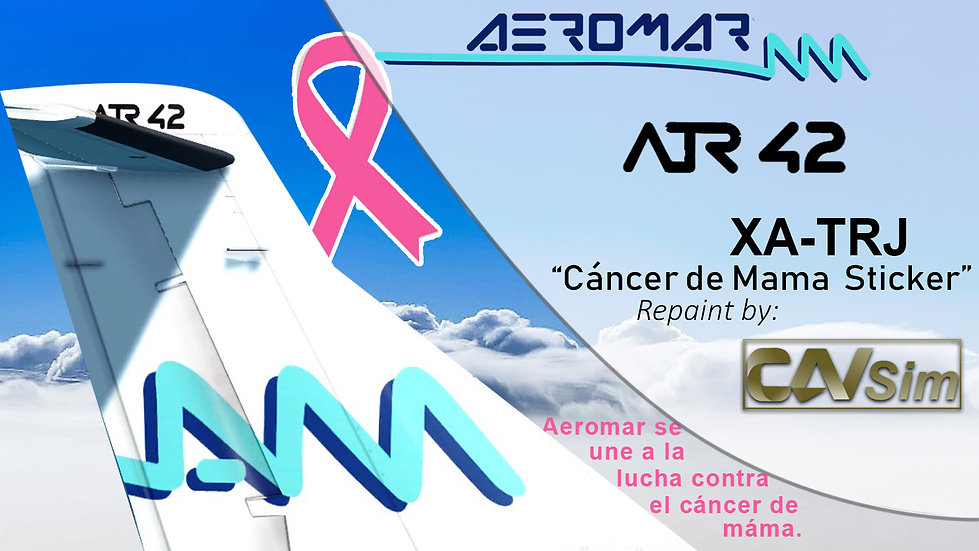 ATR 42-500 Aeromar 'Cáncer de Mama' 'XA-TRJ'
