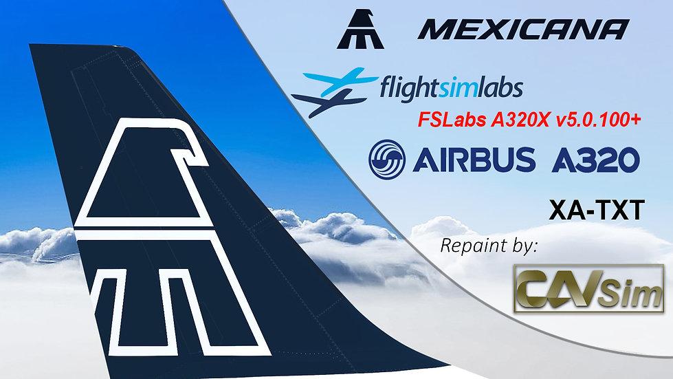 A320-231 (WT) Mexicana 'Blue Livery' 'XA-TXT' CN: 430