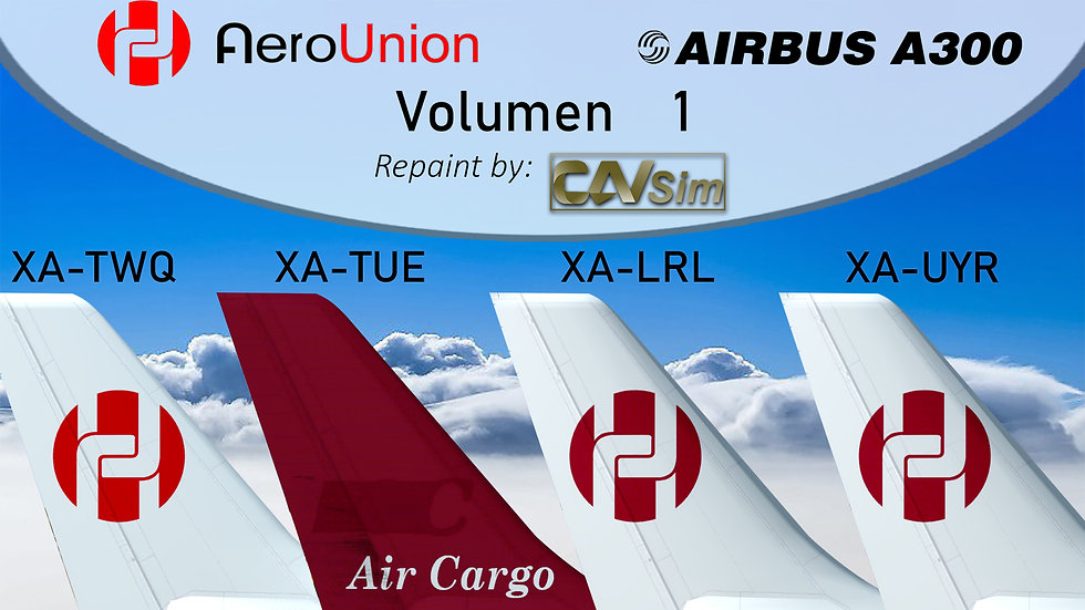 Pack No. 29 Airbus A300B4-F AeroUnion Cargo Pack Liveries