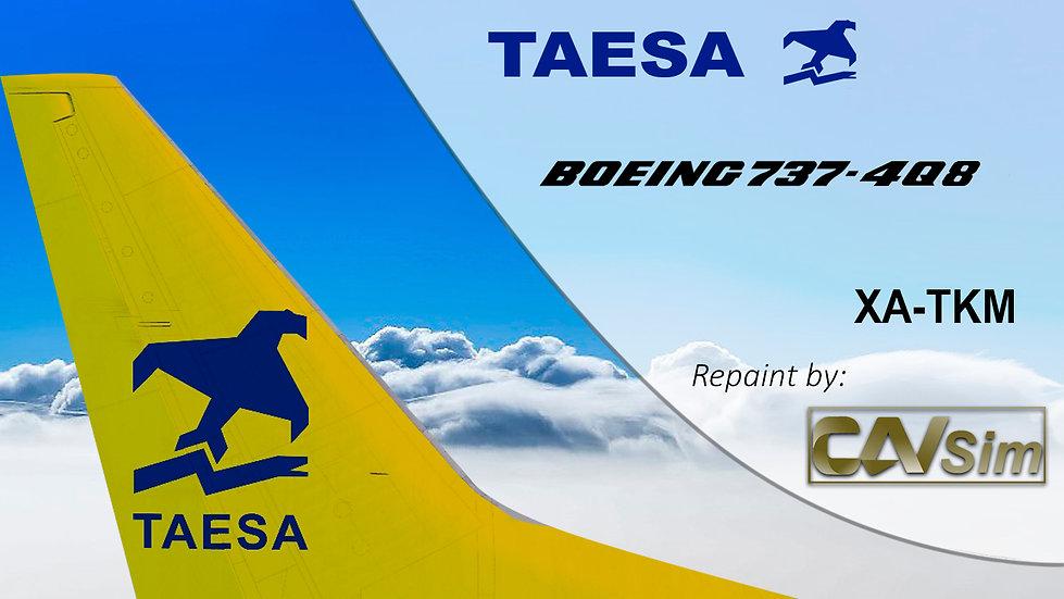 Boeing 737-4Q8 TAESA 'Tail Yellow' 'XA-TKM'