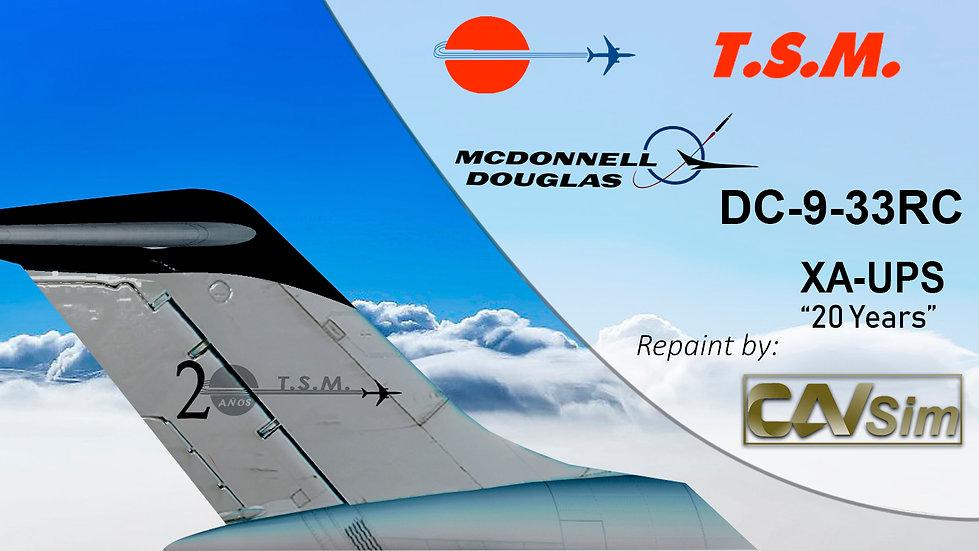 McDonnell Douglas DC9-33RC Aeronaves TSM 'Black Livery' '20 Años' 'XA-UPS'
