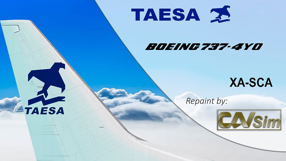 Boeing 737-4Y0 TAESA 'White Livery' 'XA-SCA'