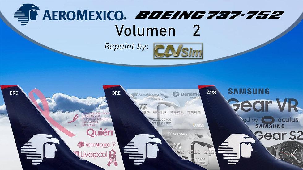 Pack Boeing No. 6  Aeromexico B737-700(WL) 'White Liveries' Vol. 2