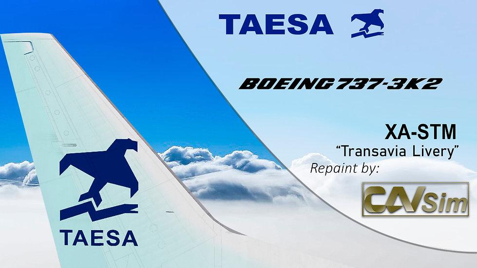 Boeing 737-3K2 TAESA 'Transavia Livery' 'XA-STM'