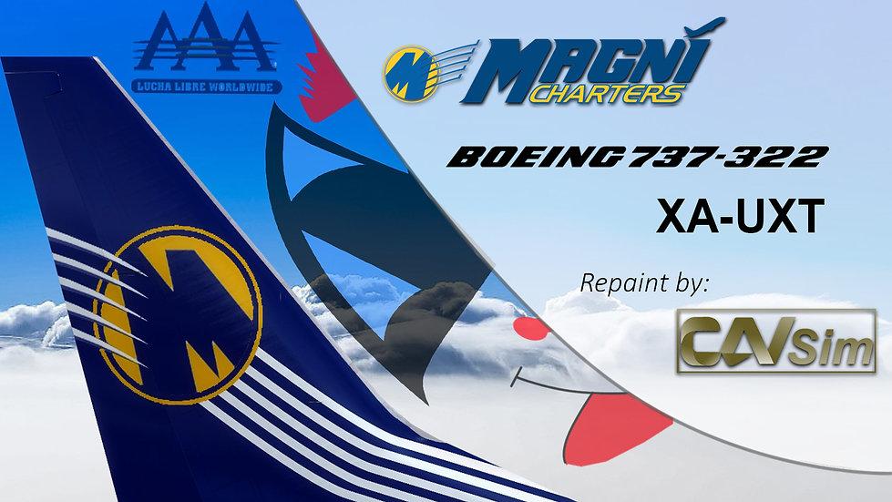Boeing 737-322 Magnicharters 'Psycho Clown Livery' 'XA-UXT'