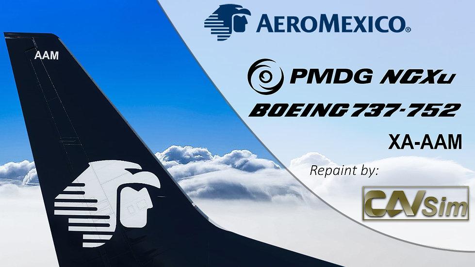 B737-752(BW) AeroMexico 'Chrome Clean Livery' 'XA-AAM'