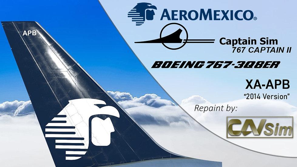 B767-3Q8ER(WL) Aeromexico Circa 2014 Livery XA-APB