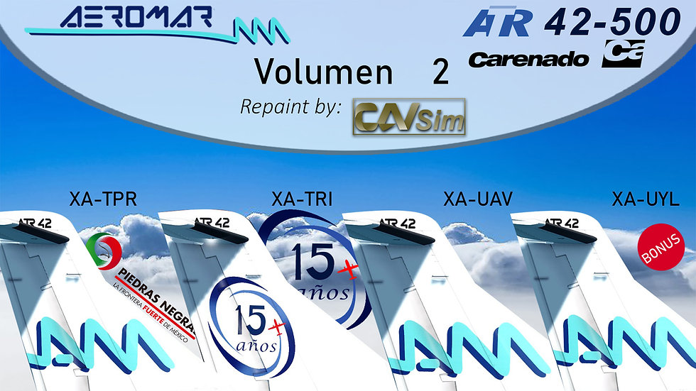 Pack No. 35 ATR42-500 Aeromar Standard Liveries Vol. 2