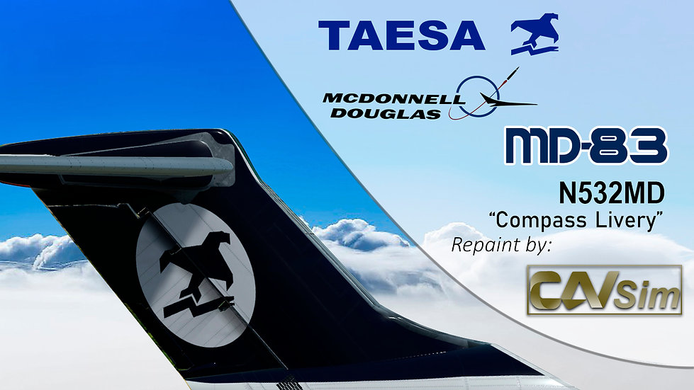 MDD MD-83 TAESA 'Transition Compass Livery' Flat Tail 'N532MD'