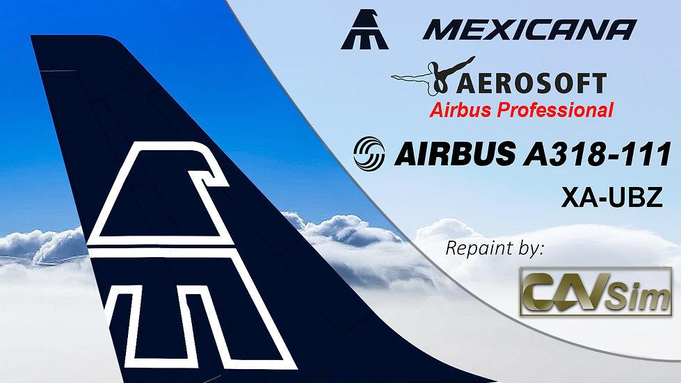 A318-111SL(WT) Mexicana 'Blue Livery' 'XA-UBZ'