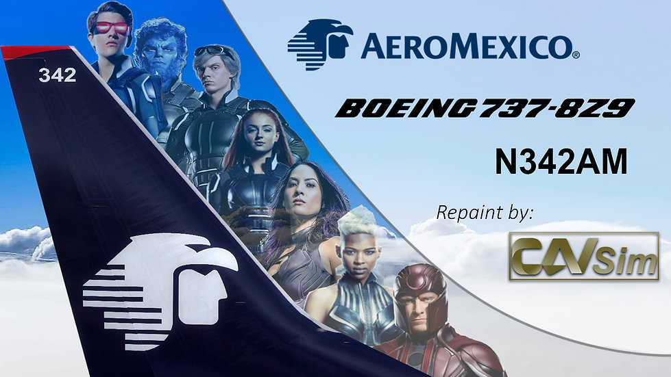 Boeing 737-8Z9(WL) Aeromexico 'Sticker X-MEN' 'N342AM'