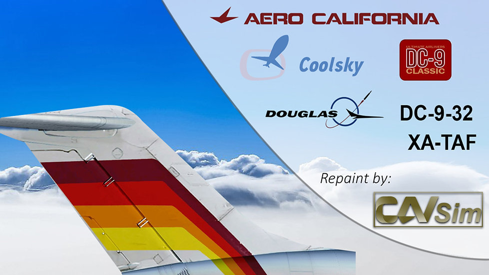 McDonnell Douglas DC9-32 Aerocalifornia SA de CV '90's Livery' 'XA-TAF'