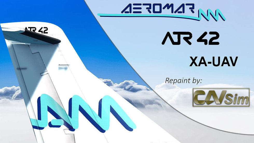 ATR 42-500 Aeromar 'aeromar.com.mx' 'XA-UAV'