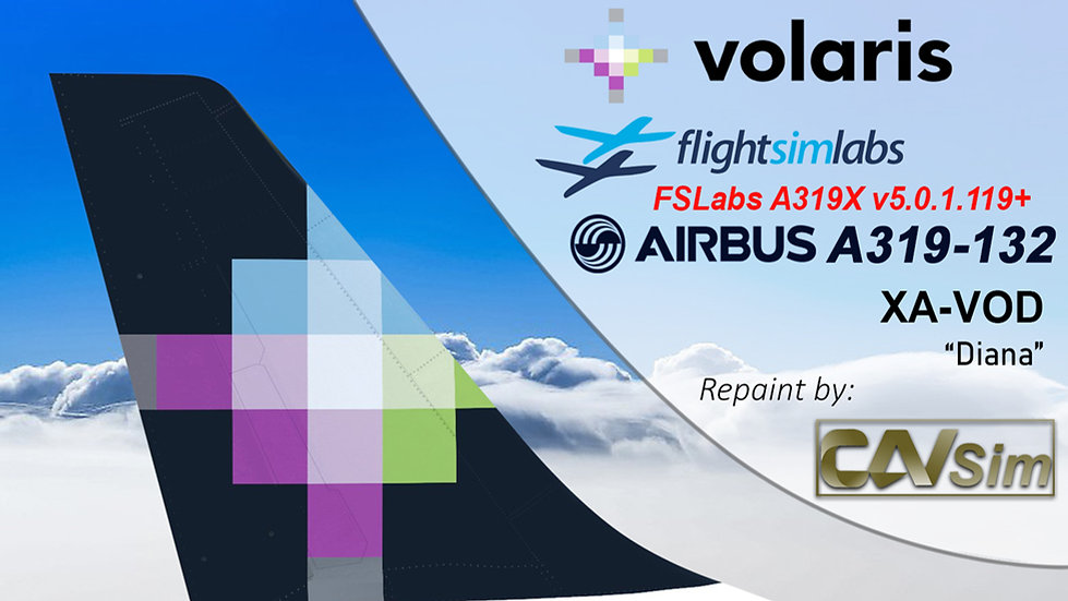 A319-133 (WT) Volaris 'Diana' 'XA-VOD'