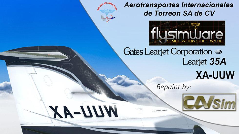 Gates Learjet 35A Aerotransportes Internacionales de Torreon SA de CV 'XA-UUW'