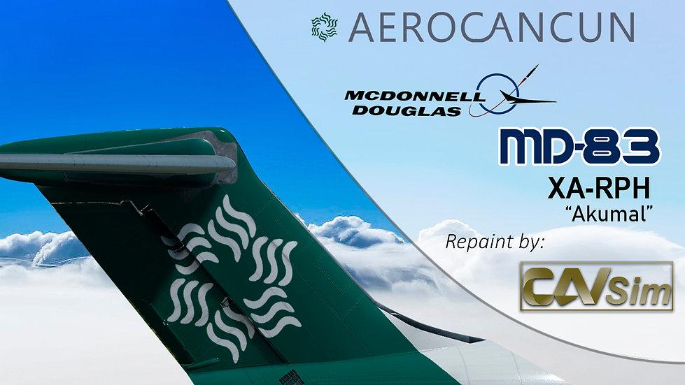 MDD MD-83 Aerocancun Chárter 'Akumal' Flat Tail 'XA-RPH'