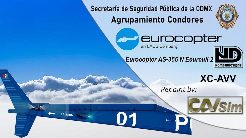 Eurocopter AS-355 N Ecureuil 2  SSP de la CDMX 'Condor 1' 'XC-AVV'