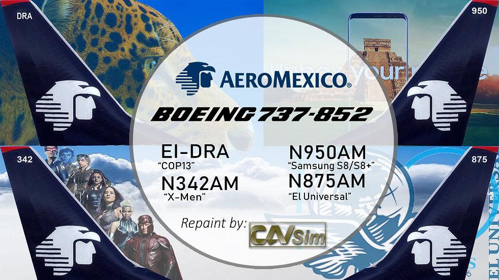 Pack Boeing No. 7 Aeromexico B737-800WL 'Special Liveries' Vol.1